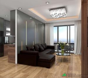 Thiết kế chung cư đẹp căn hộ 110m2 Dự Án Thống Nhất Complex