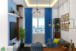 Thiết kế chung cư đẹp căn hộ 70m2 Dự Án Rivera Park